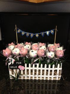 2013 EGHS FFA Donation Basket Pig and Cow Cake Pops