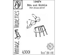 1940's Bra and girdle B33.5 PDF sewing pattern | Etsy