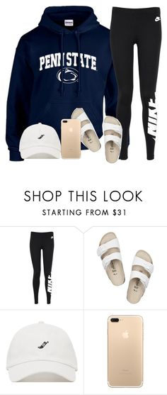 A fashion look from March 2017 featuring nike pants, summer sandals and hooded sweatshirt. Browse and shop related looks. Lazy Day Outfits, Chill Outfits, Sporty Outfits, College Outfits, Everyday Outfits, Outfits For Teens, Summer Outfits, Cute Outfits, Stylish Outfits