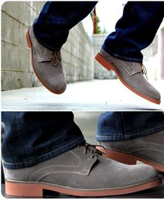 Men's shoes these days fall into two categories, dressy and casual. But dress shoes don't look right with jeans, and sometimes you want something more dressed up than sneakers or boots. For these times, we recommend the suede buck.