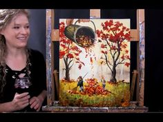 Learn to Paint THE LEAF BUCKET with Acrylics - Paint and Sip at Home - Autumn Step by Step Tutorial