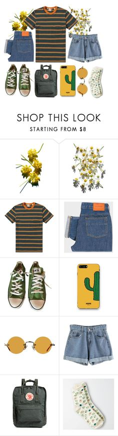 """was lost but now I'm found"" by thanici ❤ liked on Polyvore featuring Levi's, PS Paul Smith, Converse, WithChic, Hakusan, Fjällräven and American Eagle Outfitters"