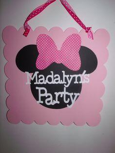 Minnie Mouse Door Sign