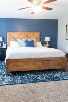 West Coastal Style Master Bedroom Makeover | All Things Thrifty