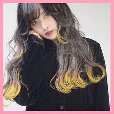 エッジラインカラー | WEBSTA - Instagram Analytics Hair Color List, Yellow Hair Color, Types Of Hair Color, Color Your Hair, Grey Hair Dye, Red Ombre Hair, Dip Dye Hair, Dyed Hair, Dark Hair With Highlights