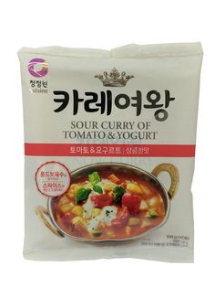 [CJW] Sour Curry of Tomato& Yogurt 108g   * How to cook * 1. Stir fry prepared vegetables and pour 480ml of water and Fond de veau soup base.  2. When ingredients are boiled completely, pour all of snow curry and mix well.  3. When curry is finished, control spicy taste with spice.    #korean #food #easy #cook #grocery #curry #tomato #yogurt #sour #new_zealand #onlin #shopping #curry queen #chungjungone #tomato&yogurt