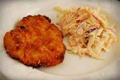 Rántott hús sütőben Food Network, Cauliflower, Pork, Cooking Recipes, Chicken, Vegetables, Minden, Drinks, Pork Roulade