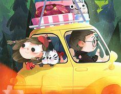 君 Jun on Behance Children's Book Illustration, Character Illustration, Kawaii Girl Drawings, Person Drawing, Soft Wallpaper, Illustrations And Posters, Art For Kids, Character Design, Cartoon