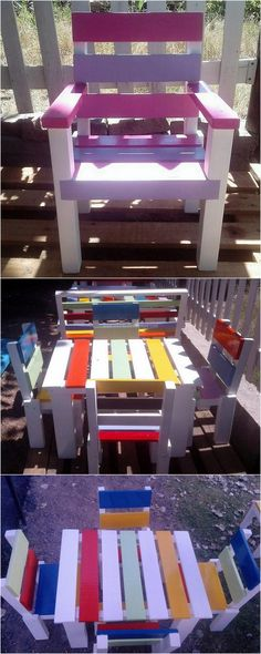 If you want something to develop the interest of the kids in studying, then this idea of creating the colorful shipping pallet furniture for the kids is outstanding because they are attracted by the colorful items and they will love to do their homework just for enjoying on the attractive furniture.