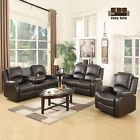 Sofa Set Loveseat Chaise Couch Recliner 321 Seater Brown Leather Living Room