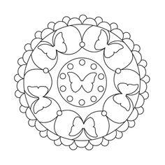 Zeichnung mit sechs Schmetterlingen, kleine Kreise, einfaches Mandala zum ausmalen Kinder Easy People Drawings, Easy Doodles Drawings, Simple Doodles, Realistic Drawings, Love Drawings, Colorful Drawings, Easy Butterfly Drawing, Easy Flower Drawings, Easy Disney Drawings