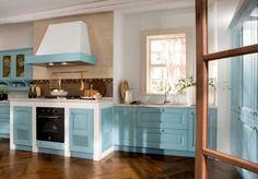 Cucina provenzale azzurra - Idee colorate per la casa.