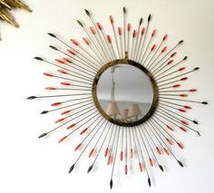 miroir soleil en métal  style Line Vautrin par atelierdelachoisille