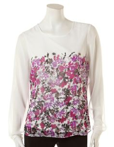 Cleo - Floral Placement Print Blouse