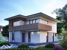 Model casa 195 Architectural Design House Plans, Modern House Design, Modular Home Manufacturers, Elephant Coloring Page, Small Closet Space, Two Story Homes, Modular Homes, Facade House, Design Case