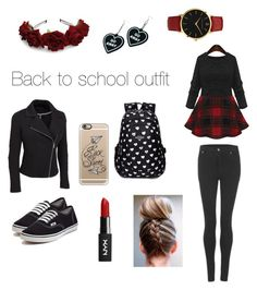 """#back to school"" by letnik-julija on Polyvore featuring Cheap Monday, Vans, Witch Worldwide, Casetify, Larsson & Jennings and plus size clothing"