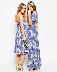 Image 3 ofASOS WEDDING Soft Rose Print Maxi Dress