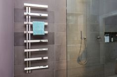 This is the rectangular version of the Chime collection. Cantilevered rails allow for towels to be easily slid on and off. These towel radiators are great for family bathrooms. Steel Railing, Glass Railing, Bathroom Sealants, Bathroom Towel Radiators, Kitchen Radiator, Decking Panels, Electric Towel Rail, Stainless Steel Radiators, Designer Radiator
