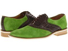 These are pretty awesome.  I would wear these.  Giorgio Brutini 658605-2 Green Suede/Brown Croco Print Leather - 6pm.com