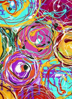 Circles Painting by Ingrid Padilla - Circles Fine Art Prints and Posters for Sale