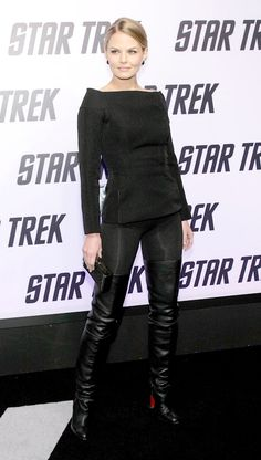 Jennifer Morrison in Christian Louboutin Thigh High Boots.