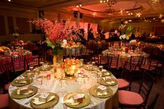ADominickEvents_IndianWeddingReception PINNED ONLY FOR DARK BROWN CHAIRS FLAT CUSHIONS -- DARK BROWN CHAIRS TRUMP SILVER UNLESS ARE DOING SILVER TABLE CLOTH?