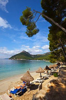 The idyllic beach of Cala pi de la Posada, Cap de Formentor, Mallorca, Balearic Islands, Spain