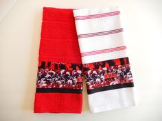 Walking Dead Zombie Hand Towels/Kitchen Towels by ZanymouseCreations on Etsy