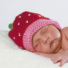 Huggalugs Very Berry Hat-huggalugs, hat, knit hat, very berry hat, pink, strawberry