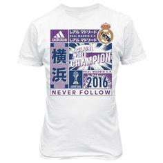 adidas Mens Gents Real Madrid Fifa Club World Cup Champions 2016 T Shirt - White  | eBay