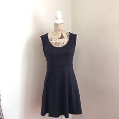 "Monteau Navy Skater Dress Size Medium Brand New!! Monteau Navy Skater Dress Size Medium34"" Bust and 30"" Waistcut out back Back zip closure Monteau Dresses Mini"
