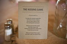 Kissing Game - something like this would be funny. especially since I hate the clinking glasses ALL NIGHT LONG and at the most inconvenient times. I am SO doing this! It would be hilarious!