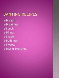 Banting Recipes - Anina Den Heyer Real Food Recipes, Cooking Recipes, Banting Recipes, Lchf, Keto, Snacks, Revolution, Low Carb, Baking
