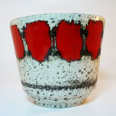 Keramik Vase Übertopf • Fat Lava Planter • West German Pottery • Mid Century