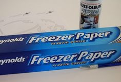 Nancy Zeeman uses freezer paper as iron-on templates.    How to make stencils out of freezer paper