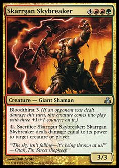 Skarrgan Skybreaker ($.24) Price History from major stores - Guildpact - MTGPrice.com Values for Ebay, Amazon and hobby stores!