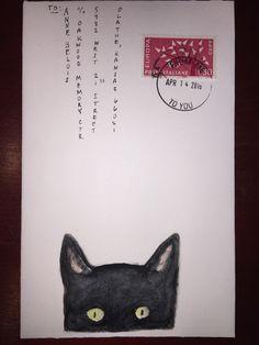 mail art, illustrated envelope