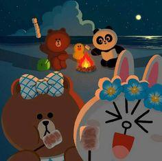 // Patrizia Conde Lines Wallpaper, Summer Wallpaper, Iphone Wallpaper, Cute Couple Cartoon, Cute Love Cartoons, Cony Brown, Chibi Cat, Bunny And Bear, Friends Wallpaper