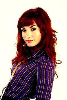 red hair w bangs