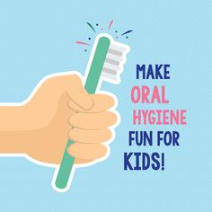 "YOU CAN MAKE ORAL HYGIENE fun for your kids! Try letting them pick out their own toothbrushes and toothpaste flavor, and make brushing a game to fight off the ""bad guys"" like plaque!"