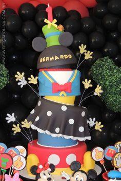 Bolo pasta americana, Mickey Mouse, Disney