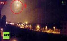 UKRAINE: Mysterious lights (UFOs?) Views in Donetsk Airport