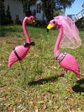 Bridge and Groom Flamingos