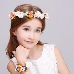 Sharon flower crown/flower headband& flower bracelet