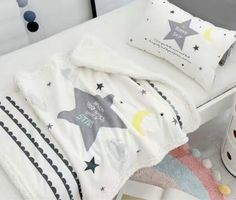 blanket for baby bedding winter cloud pattern baby blankets newborn sleeps couverture polaire kids boy girl room star pillow