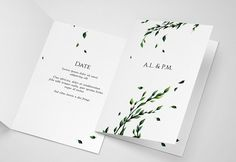 Floral Watercolour Invitation by BooTique on @Graphicsauthor