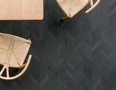 """repeat-norepeat: """" """"Mews"""" porcelain tile designed by Barber & Osgerby for Mutina. The large collection features a range of shapes, textures, and color tones found in the urban landscape. Tuile Chevron, Chevron Tile, Herringbone Tile, Wood Floor Design, Tile Design, Floor Patterns, Tile Patterns, Parquet Flooring, Kitchen Flooring"""