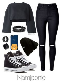 ✿ʚ♥ɞ«Namjoonie Inspired Outfits Bts Casual School Outfits, Cute Comfy Outfits, Edgy Outfits, Swag Outfits, Korean Outfits, Girls Fashion Clothes, Kpop Fashion Outfits, Mode Kpop, Bts Inspired Outfits