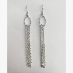 Chain dangle earrings by TheCraftyCarvalho on Etsy
