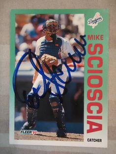 1992 Fleer #470 Mike Scioscia (In Person)